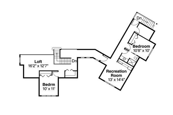 Craftsman Floor Plan - Other Floor Plan #124-979