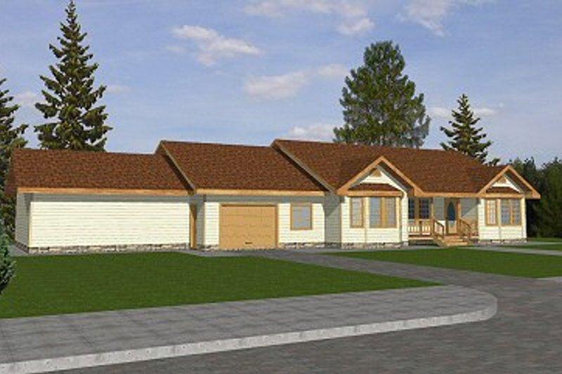 Ranch Exterior - Front Elevation Plan #117-192 - Houseplans.com
