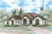 Mediterranean Style House Plan - 4 Beds 2 Baths 2287 Sq/Ft Plan #17-1135