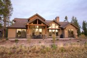 Craftsman Style House Plan - 3 Beds 4.5 Baths 2536 Sq/Ft Plan #892-11 Exterior - Rear Elevation