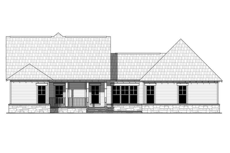 Craftsman Exterior - Rear Elevation Plan #21-359 - Houseplans.com