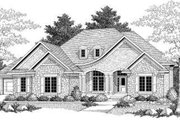 European Style House Plan - 2 Beds 1.5 Baths 2194 Sq/Ft Plan #70-587 Exterior - Front Elevation