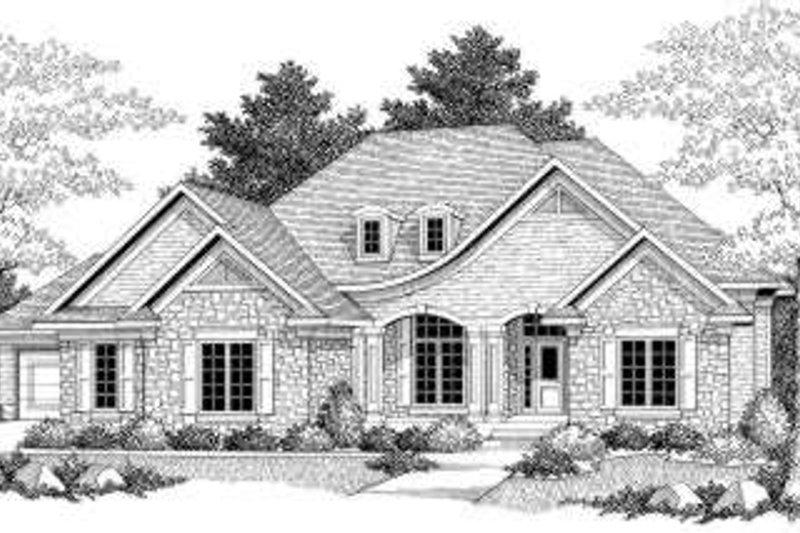 Dream House Plan - European Exterior - Front Elevation Plan #70-587