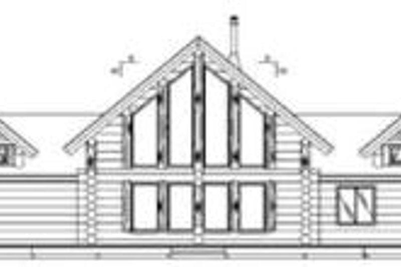 Log Exterior - Rear Elevation Plan #117-112 - Houseplans.com