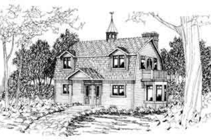 Dream House Plan - Farmhouse Exterior - Front Elevation Plan #124-293