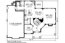 Craftsman Floor Plan - Main Floor Plan Plan #70-1279
