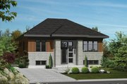 Contemporary Style House Plan - 3 Beds 1 Baths 1088 Sq/Ft Plan #25-4270 Exterior - Front Elevation