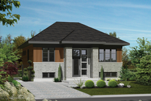 House Plan Design - Contemporary Exterior - Front Elevation Plan #25-4270
