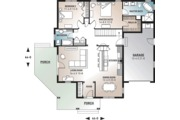 Country Style House Plan - 2 Beds 2 Baths 1452 Sq/Ft Plan #23-560 Floor Plan - Main Floor Plan