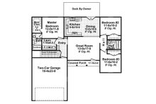 Ranch Floor Plan - Main Floor Plan Plan #21-371