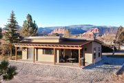 Cabin Style House Plan - 2 Beds 1 Baths 880 Sq/Ft Plan #924-9 Exterior - Rear Elevation