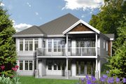 Traditional Style House Plan - 3 Beds 2 Baths 1621 Sq/Ft Plan #25-4363 Exterior - Rear Elevation
