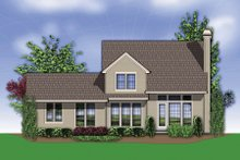 Dream House Plan - Traditional Exterior - Rear Elevation Plan #48-634