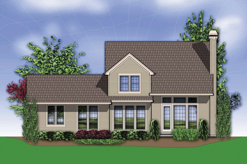 Traditional Exterior - Rear Elevation Plan #48-634 - Houseplans.com