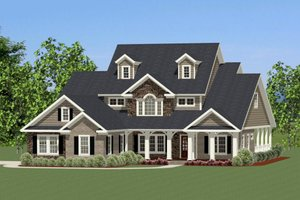 Traditional Exterior - Front Elevation Plan #898-29