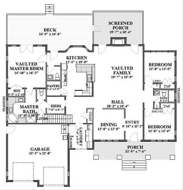 Cottage Floor Plan - Main Floor Plan Plan #898-43