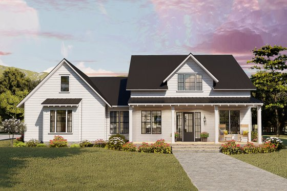 Cottage Exterior - Front Elevation Plan #406-9656