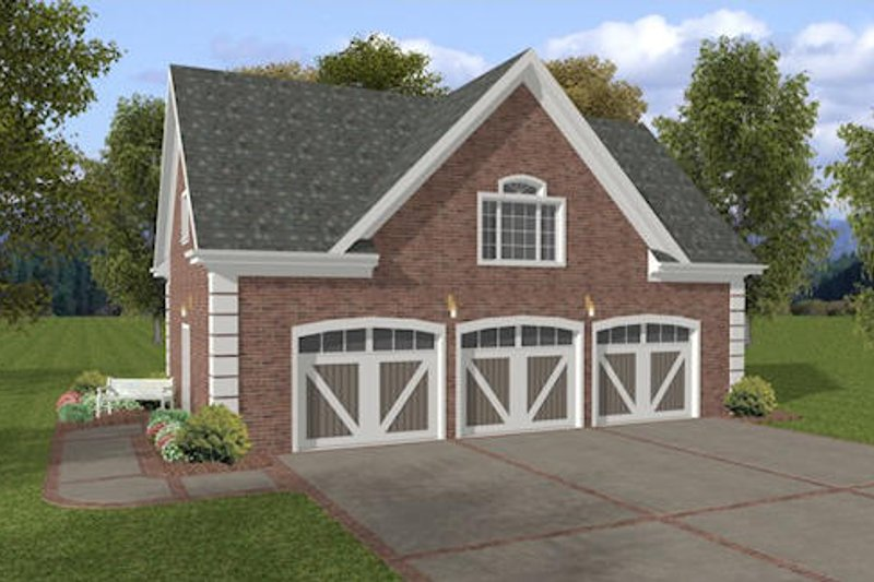 Dream House Plan - Traditional Exterior - Front Elevation Plan #56-570