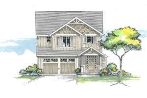 Architectural House Design - Craftsman Exterior - Front Elevation Plan #53-608