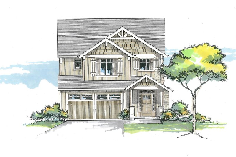 Craftsman Exterior - Front Elevation Plan #53-608