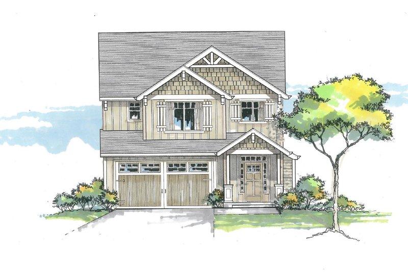 House Plan Design - Craftsman Exterior - Front Elevation Plan #53-608