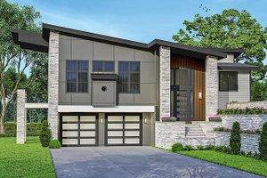 Architectural House Design - Modern Exterior - Front Elevation Plan #124-1246