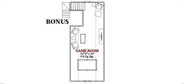 Country Floor Plan - Other Floor Plan Plan #63-208