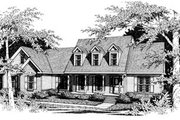 Colonial Style House Plan - 3 Beds 2.5 Baths 2297 Sq/Ft Plan #10-205 Exterior - Front Elevation