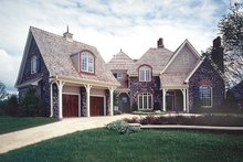 House Plan Design - European Exterior - Front Elevation Plan #453-36
