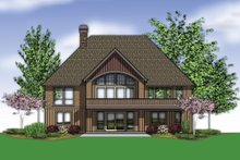 Home Plan - Rear View - 3600 square foot Craftsman Home