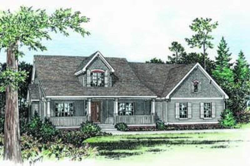 Country Exterior - Front Elevation Plan #20-841