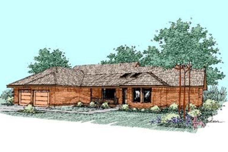 Traditional Exterior - Front Elevation Plan #60-263 - Houseplans.com