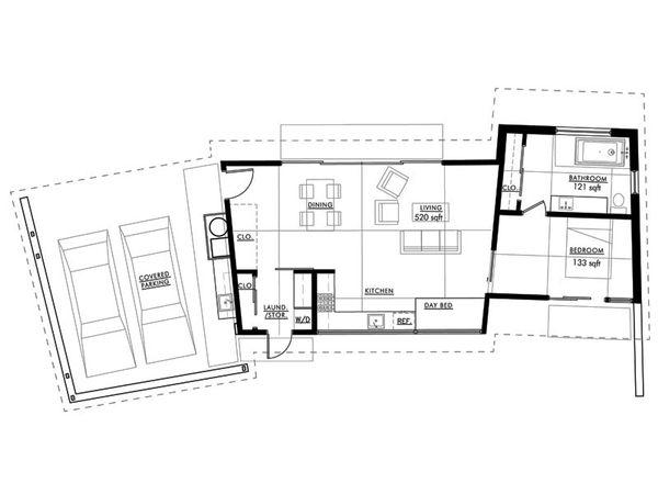 Modern Floor Plan - Main Floor Plan #517-1