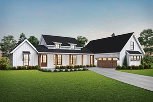 Farmhouse Exterior - Front Elevation Plan #48-968