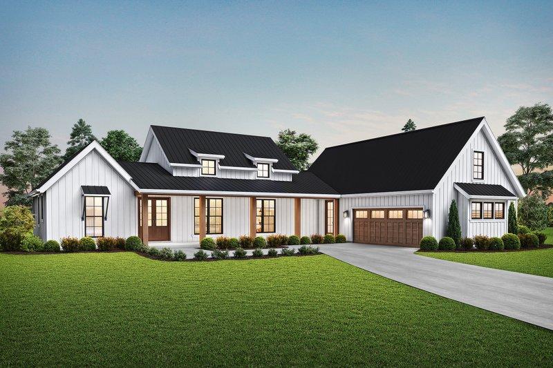 Architectural House Design - Farmhouse Exterior - Front Elevation Plan #48-968