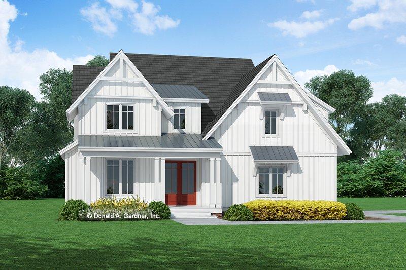 Dream House Plan - Farmhouse Exterior - Front Elevation Plan #929-1135