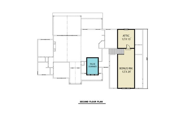 House Plan Design - Farmhouse Floor Plan - Upper Floor Plan #1070-91