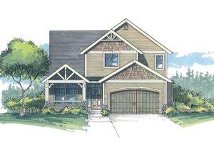 Craftsman Exterior - Front Elevation Plan #53-466