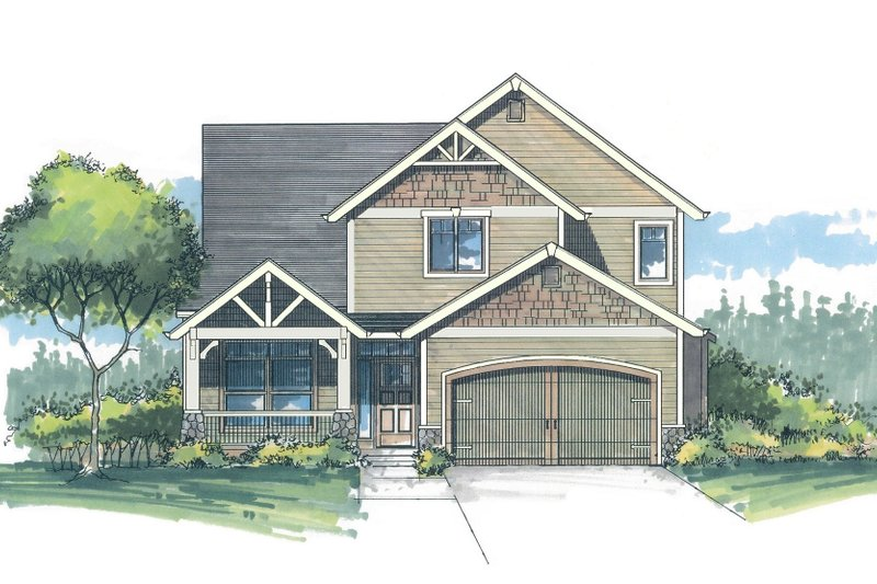 Craftsman Style House Plan - 3 Beds 2.5 Baths 1949 Sq/Ft Plan #53-466