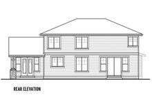 Home Plan - Traditional Exterior - Rear Elevation Plan #569-39