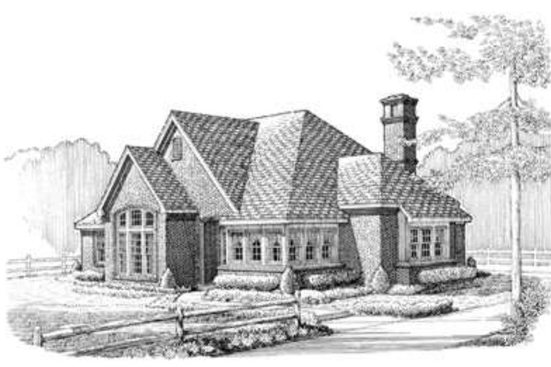 European Exterior - Front Elevation Plan #410-316