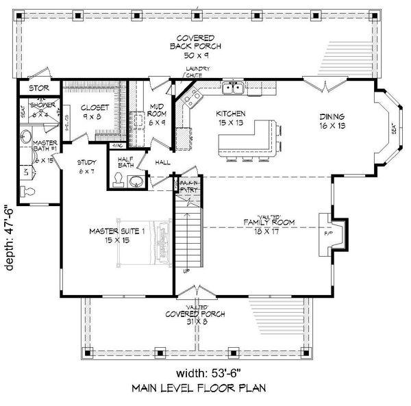 Country Floor Plan - Main Floor Plan Plan #932-144