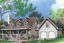 Farmhouse Exterior - Front Elevation Plan #929-39