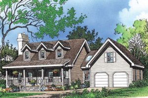 House Plan Design - Farmhouse Exterior - Front Elevation Plan #929-39