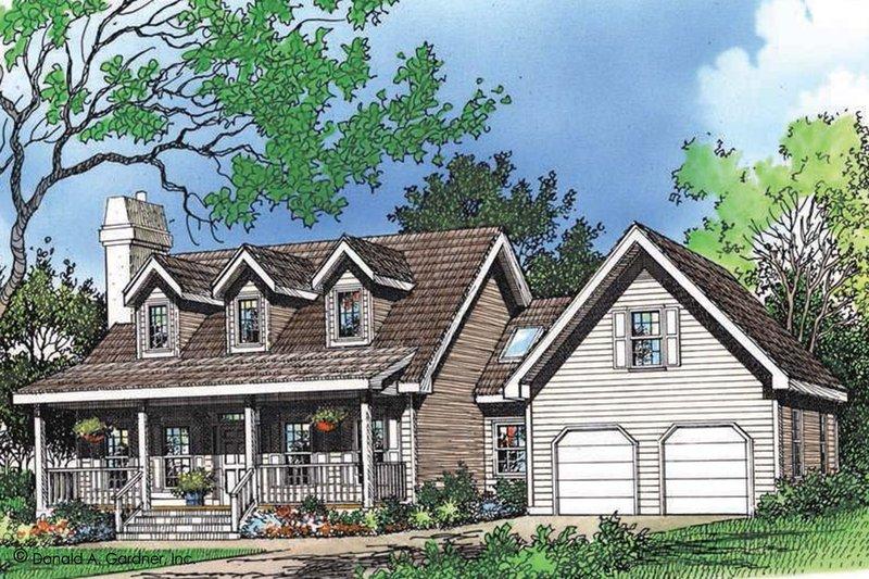 Farmhouse Exterior - Front Elevation Plan #929-39