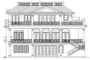 Mediterranean Style House Plan - 2 Beds 2.5 Baths 3996 Sq/Ft Plan #27-450 Exterior - Rear Elevation