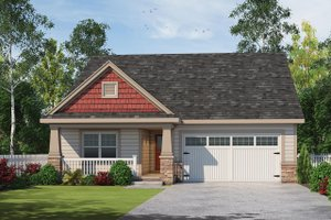 Craftsman Exterior - Front Elevation Plan #20-2348