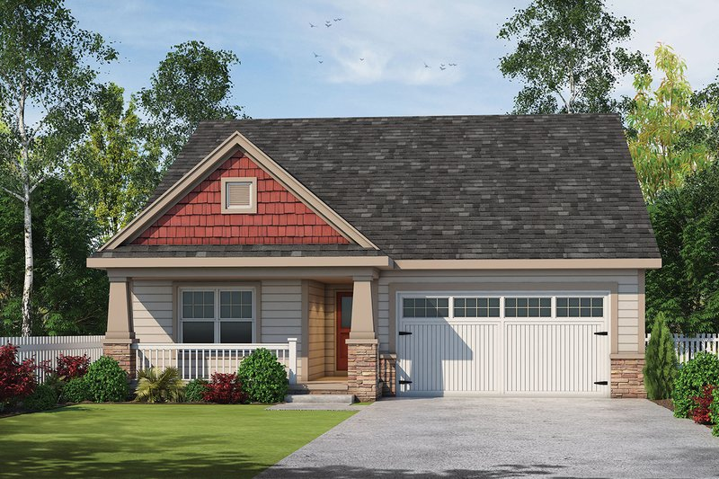 Dream House Plan - Craftsman Exterior - Front Elevation Plan #20-2348