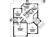 European Style House Plan - 3 Beds 2 Baths 2678 Sq/Ft Plan #25-4530 Floor Plan - Main Floor Plan