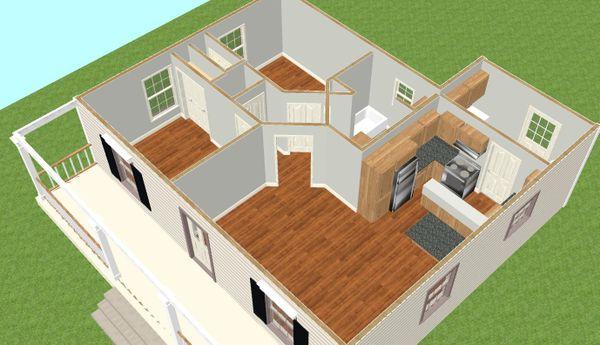 Country Floor Plan - Other Floor Plan Plan #44-203
